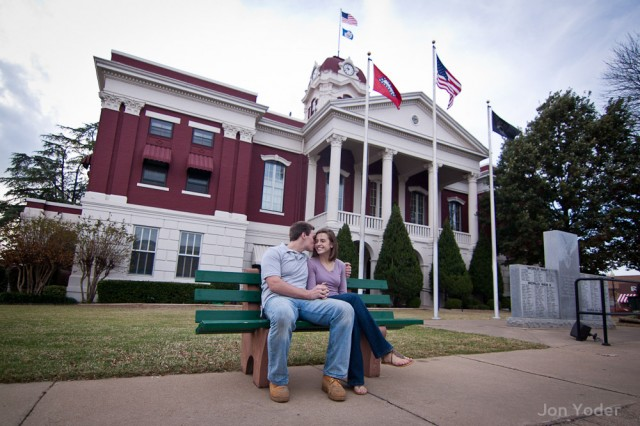 downtown searcy engagement photographer