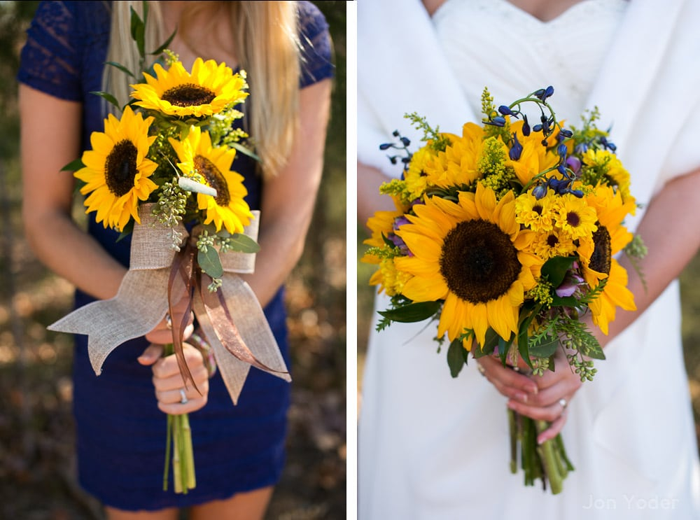 cute sunflower bouquets