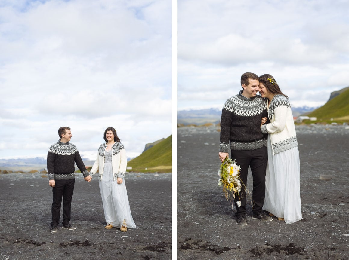 iceland wedding portraits