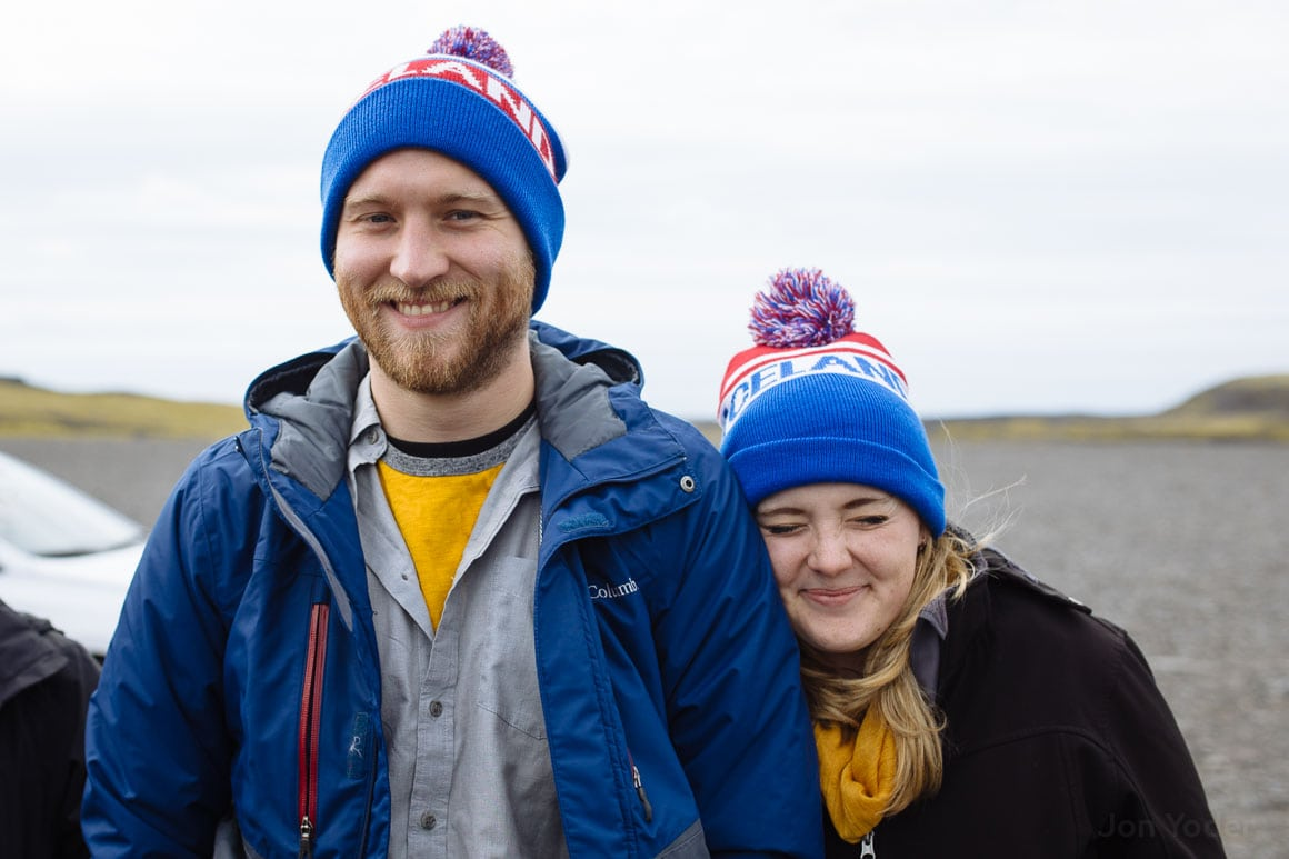 iceland couple portrait black beach vic